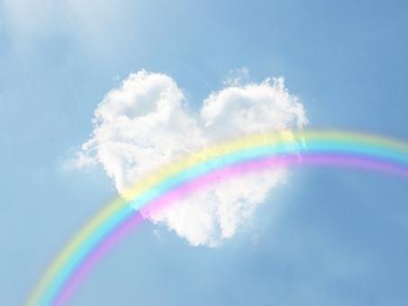 虹と♡と空