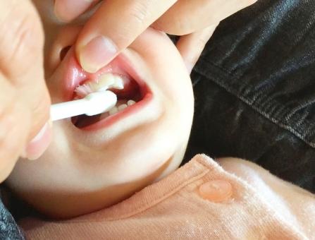 一歳の歯みがき